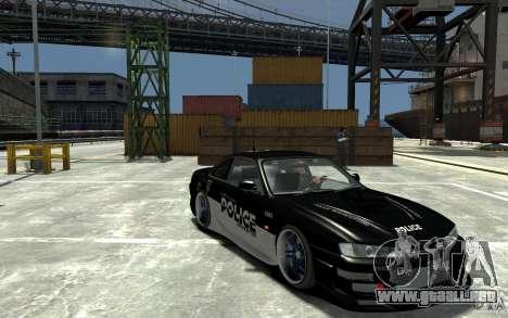 Nissan 200SX Police v0.2 para GTA 4 vista hacia atrás