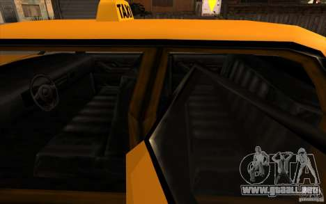 Oceanic Cab para GTA San Andreas vista hacia atrás