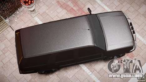 Cavalcade FBI car para GTA 4 vista superior