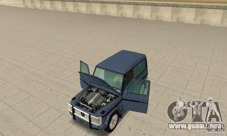 Mercedes-Benz G500 1999 Short [with kangoo v1] para GTA San Andreas vista hacia atrás
