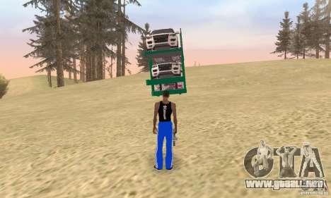 Car Transporter para GTA San Andreas left