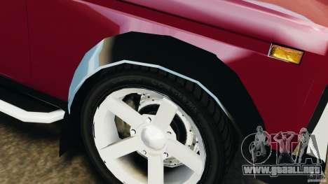 Vaz-21214 Niva (Lada 4 x 4) para GTA 4 ruedas