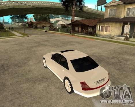 Maybach 57 S para GTA San Andreas left