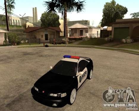 Honda Integra 1996 SA POLICE para GTA San Andreas left