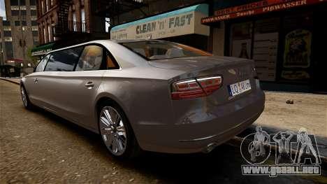 Limusina Audi A8 para GTA 4 visión correcta