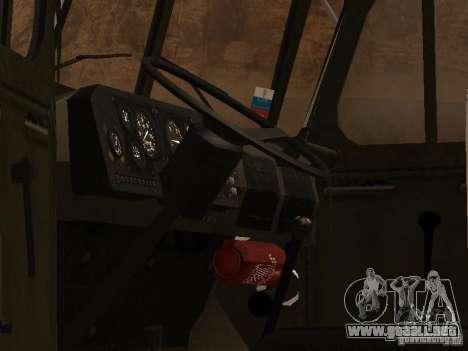 Ural 4320 MOE para GTA San Andreas vista hacia atrás