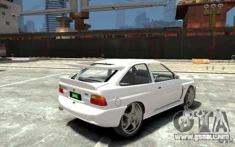 Ford Escort Cosworth para GTA 4 visión correcta