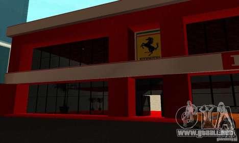 Nuevo Showroom de Ferrari en San Fierro para GTA San Andreas quinta pantalla