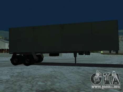 Trailer de Kamaz 5410 para GTA San Andreas vista posterior izquierda