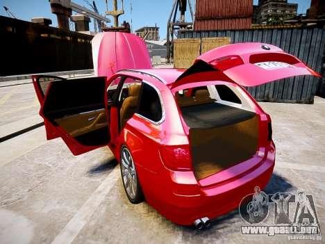 BMW 525i Touring para GTA 4 vista hacia atrás