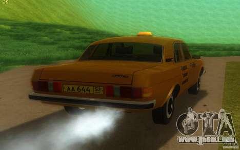Taxi 3102 Volga GAZ para la visión correcta GTA San Andreas
