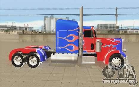 Peterbilt 379 Optimus Prime para visión interna GTA San Andreas