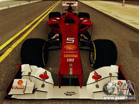 Ferrari F2012 para visión interna GTA San Andreas