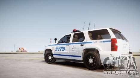 Chevrolet Tahoe 2012 NYPD para GTA 4 left