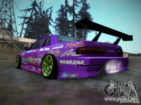 Nissan Silvia S13 Team Burst para la visión correcta GTA San Andreas