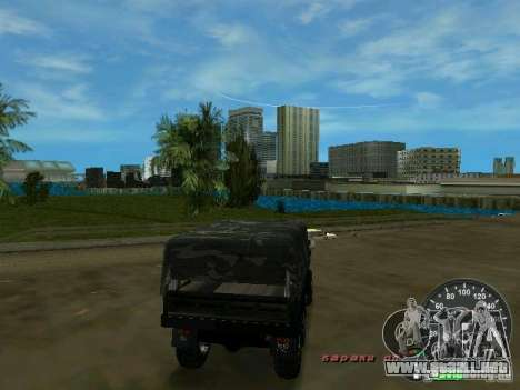 Ural 4320 Military para GTA Vice City visión correcta