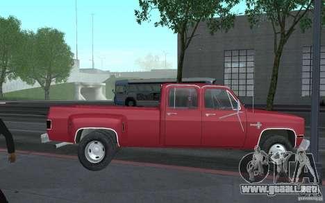 Chevrolet Silverado 3500 para visión interna GTA San Andreas