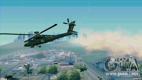 Trampas de calor para Hunter para GTA San Andreas segunda pantalla