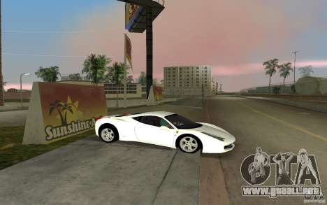 Ferrari 458 Italia para GTA Vice City left