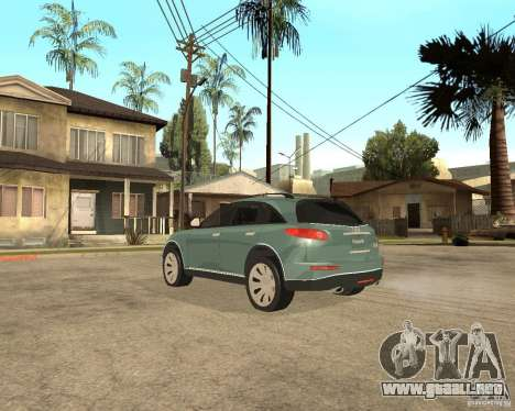 INFINITY FX45 para visión interna GTA San Andreas