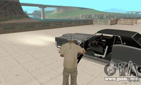 Mercury Marquis 2dr 1971 para GTA San Andreas vista hacia atrás