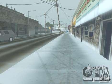 Invierno para GTA San Andreas sucesivamente de pantalla