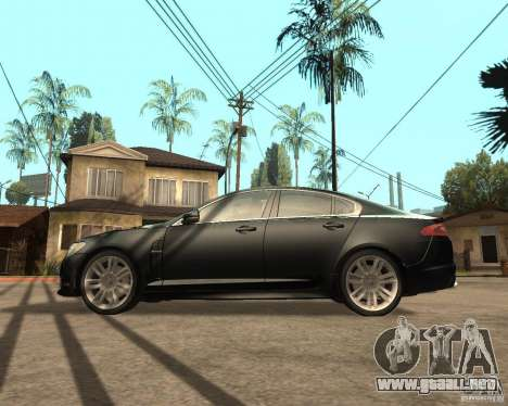 Jaguar XFR 2009 para GTA San Andreas left