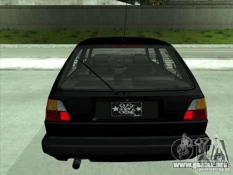Volkswagen Golf 2 Rat Style para GTA San Andreas vista hacia atrás