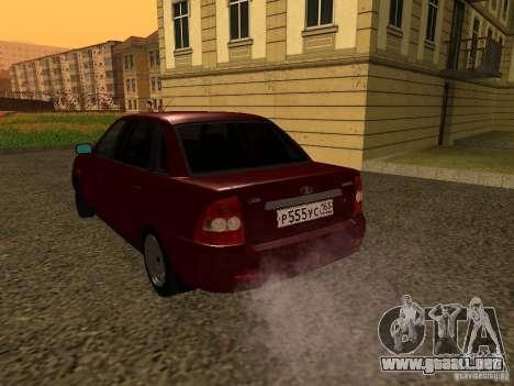 LADA 2170 Premier para la visión correcta GTA San Andreas