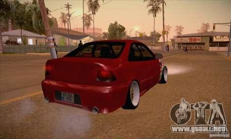 Honda Civic Tuning 2012 para la visión correcta GTA San Andreas