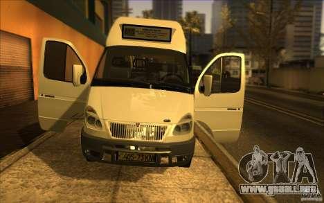 Gacela SPV-16 Rue para GTA San Andreas vista hacia atrás