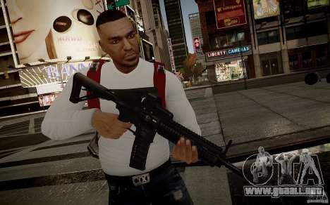 El HK416 (automático) para GTA 4 sexto de pantalla