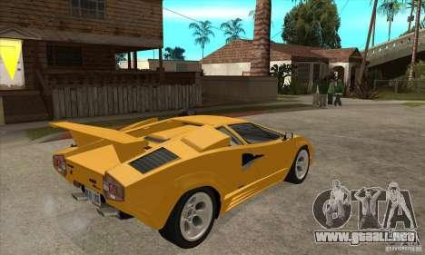 Lamborghini Countach para la visión correcta GTA San Andreas