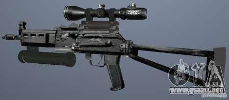 Metralleta Bizon para GTA San Andreas segunda pantalla