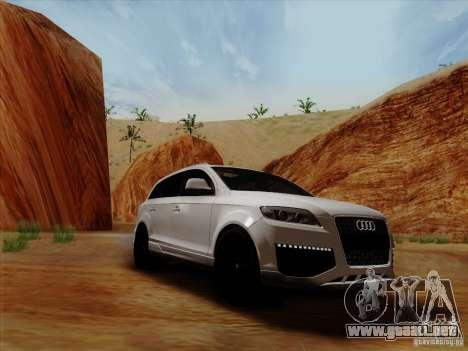 Audi Q7 2010 para GTA San Andreas vista posterior izquierda