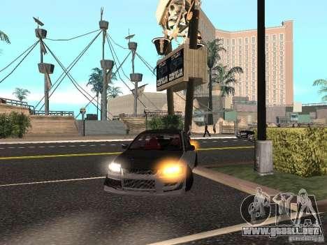 Mitsubishi Lancer Evolution VIII para la visión correcta GTA San Andreas