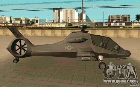 Sikorsky RAH-66 Comanche default grey para la visión correcta GTA San Andreas
