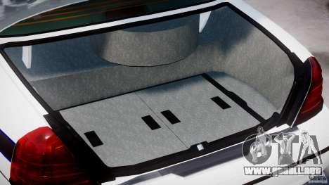 Ford Crown Victoria 2003 FBI Police V2.0 [ELS] para GTA 4 vista superior