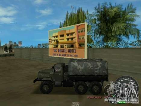 Ural 4320 Military para GTA Vice City left