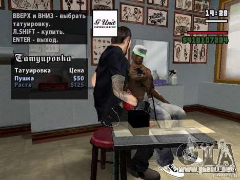 Nuevos tatuajes para GTA San Andreas segunda pantalla