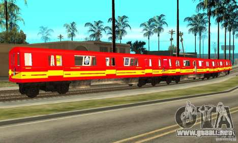 Liberty City Train Red Metro para GTA San Andreas left