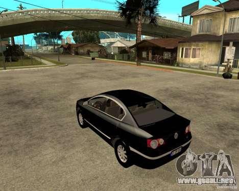 Volkswagen Passat B6 para GTA San Andreas left