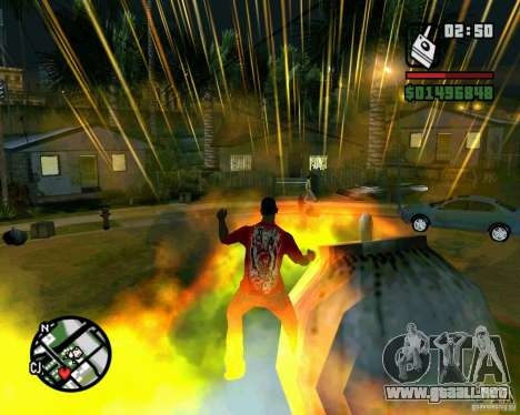 Bomba para GTA San Andreas sucesivamente de pantalla