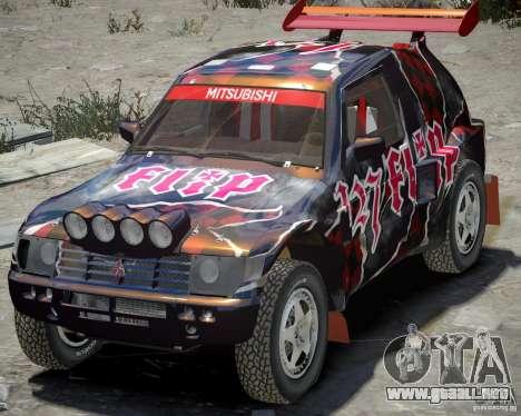 Mitsubishi Pajero Proto Dakar vinilo 3 para GTA 4 left