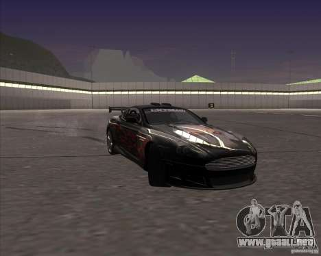Aston Martin DB9 tunable para la vista superior GTA San Andreas