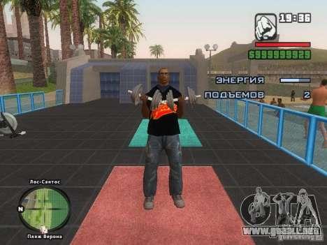 LA camiseta MIZ para GTA San Andreas octavo de pantalla