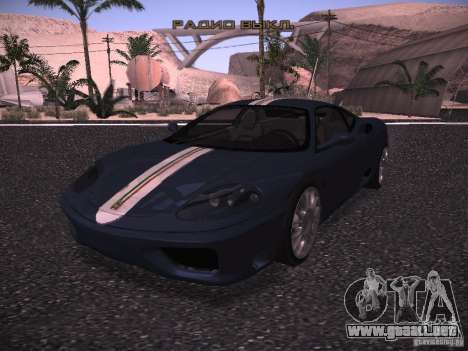 Ferrari 360 Modena para la vista superior GTA San Andreas