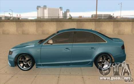 Audi S4 2009 para GTA San Andreas left