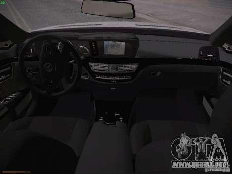 Mercedes Benz S65 AMG 2012 para visión interna GTA San Andreas