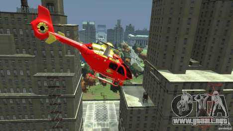 Medicopter 117 para GTA 4 Vista posterior izquierda